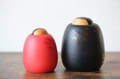 Vintage creative Kokeshi Kaguya-hime by Kokeshi Master Toa Sekiguchi, a winner of the Prime Minister Award collectors Sosaku Kokeshi