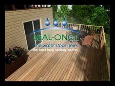 Seal Once Marine Waterproofing Wood Sealer is a toxin free, water-based waterproofing wood sealer that is safe for use over fresh and salt water. Wood Sealer, How To Waterproof Wood, Wood Surface, Salt And Water, Home Repair, Eco Friendly, Deck, Backyard, Exterior