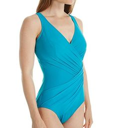 Miraclesuit Women's Must Haves Sanibel One-Piece Electric Blue Swimsuit 14 Swimsuits For Big Bust, Women's Swimsuits & Cover Ups, Swimsuits For Curves, Women Swimsuits, Blue Swimsuit, One Piece Swimsuit, Electric Blue, Fashion Outfits, Womens Fashion