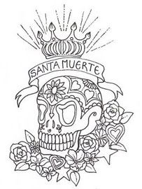 Skull Coloring Pages for Adults printable sugar skull