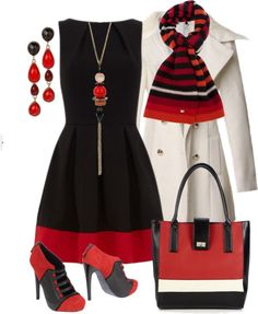 """red white black love"" by sagramora ❤ liked on Polyvore"