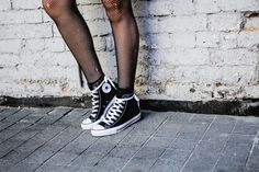 converse and fishnet