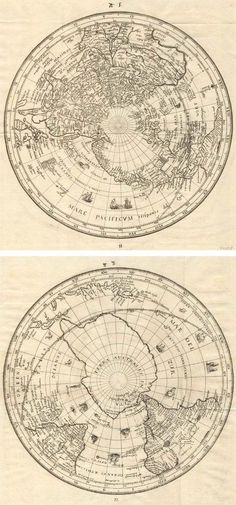 Antique map of World by Habrecht  free printable: