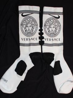 Versace 2 Custom Nike Elite Socks Parody by LuxuryElites on Etsy, $34.99 Funky Socks, Crazy Socks, Cool Socks, Nike Elite Socks, Nike Socks, Nike Gear, Nike Under Armour, Custom Socks, Tight Leggings