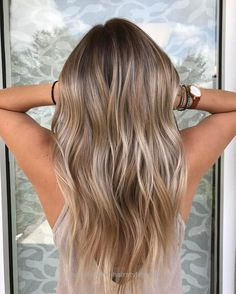 Balayage for blonde, dark brown, brown and light brown hair. Balayage for blonde, dark brown, brown and light brown hair. Bronde Balayage, Hair Color Balayage, Blonde Color, Hair Highlights, Blonde Highlights On Dark Hair All Over, Blonde Brunette, Dark Blonde Balayage, Fall Balayage, Chunky Highlights