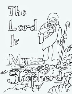 Coloring Pages for Kids by Mr. Adron: The Lord Is My Shepherd Free Kids Coloring Page