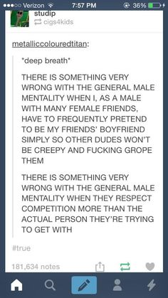YesAllWomen. I think majority of women have had a male friend do this for them.