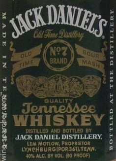 Jack Daniel's Old No. 7 Brand Green Label Tennessee Whiskey, Tennessee, USA