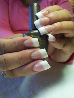 sculpture  nails white & pink using Tammy Taylor nail product