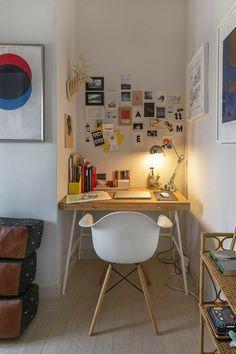 Study Room Decor, Room Ideas Bedroom, Diy Bedroom Decor, Study Rooms, Study Areas, Study Space, Wall Decor, Deco Cool, Home Office Decor