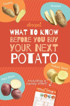 What To Know Before You Buy Your Next Potato   A handy guide for choosing the right potato for the right recipe.