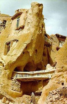700 years old troglodyte stone house village in IRAN