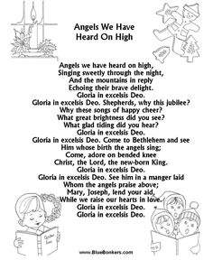 angles we have heard on high free printable christmas carol lyrics sheets favorite christmas song sheets