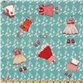 Michael Miller Children at Play Just Stay Little Turquoise #Sew #FabricIWant
