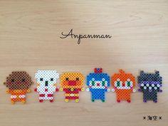 いいね!277件、コメント28件 ― *海空*さん(@kaisora0_0)のInstagramアカウント: 「#プレゼント カレーパンマン、しょくぱんまん、アンパンマン、コキンちゃん、ドキンちゃん、ばいきんまん作りました♡ 裏にマグネットを付けて、友だちの娘ちゃん2歳にプレゼント◡̈…」 Pearl Beads Pattern, Hama Beads Patterns, Beading Patterns, Mini Hama Beads, Perler Beads, Bead Crafts, Diy And Crafts, 8bit Art, Beading For Kids