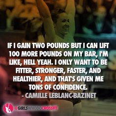 OMG I love her! Screw the scale....it's about how strong you are!