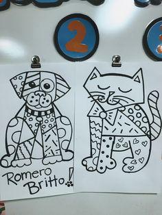 2nd grade Romero Britto Animals!