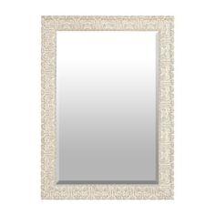 Ornate Ivory Framed Mirror, 30.5x42.5 | Kirklands