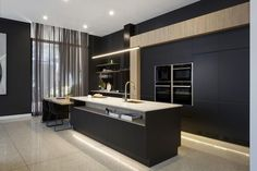 Modern Kitchen Darren Palmer's thoughts on Freedom Kitchens revealed on The Block Black Kitchens, Luxury Kitchens, Cool Kitchens, Contemporary Kitchen Design, Modern Interior Design, Modern House Design, Contemporary Furniture, The Block Kitchen, Nice Kitchen