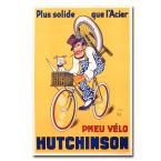 22 in. x 32 in. Hutchinson Tires 1937 Canvas Art