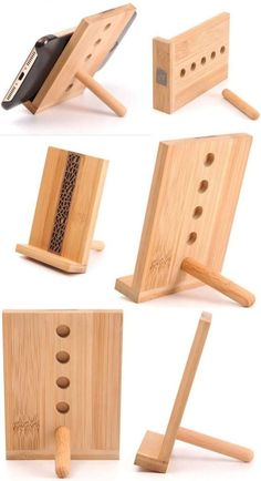 Portable Wooden Phone iPad iPhone Tablet Stand Holder Mobile Phone iPad Holder S - Samsung Phone Holder - Ideas of Samsung Phone Holder - Portable Wooden Phone iPad iPhone Tablet Stand Holder Mobile Phone iPad Holder Stand Easy Woodworking Projects, Fine Woodworking, Diy Wood Projects, Wood Crafts, Fabric Crafts, Woodworking Bench, Woodworking Workshop, Woodworking Patterns, Woodworking Classes