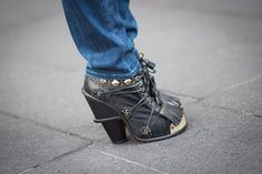 Pin for Later: The Street Style Accessories That Stopped Traffic at Fashion Week New York Fashion Week These chunky shoes have got just about every embellishment we've ever dreamed of.