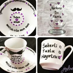 Isteme fincan damat Got Married, Special Day, Tea Cups, Backdrops, Marriage, Diy Crafts, Engagement, Bride, Tableware