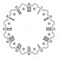 Clock Template, Face Template, Clock Art, Diy Clock, Clocks, Clock Face Printable, Scroll Saw Patterns, Wooden Clock, Journal Paper