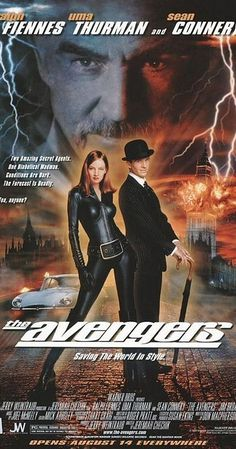 Directed by Jeremiah S. Chechik.  With Ralph Fiennes, Uma Thurman, Sean Connery, Patrick Macnee. Two British agents team up to stop Sir August de Wynter from destroying the world with a weather-changing machine.