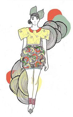 Jessica Hart #fashion #illustration