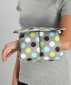 What a great idea for nursing moms.  Take a look at this Gray Dot Support Pillow by Comfy Cradle on #zulily today!