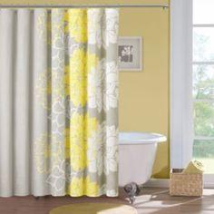 Guest bath - Madison Park Floral Cotton Shower Curtain - Kohls