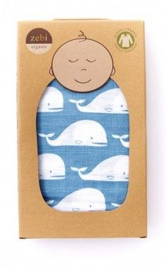 Whale Organic Blanket // very cute #packaging design idea!