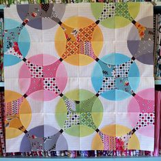 "Eep!! I'm so in love. Pillow talk swap front done. 24"" x 24"" by Cut To Pieces, via Flickr"