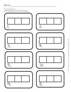 elkonin boxes template - our spin on the 100th day kindergarten family project