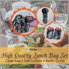 Winter Bell Family Store's Insulated lunch bag set - neoprene, reusable, FABULOUS! https://www.amazon.com/dp/B06XCJTSDC