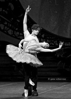 "Tamara Rojo and Sergei Polunin in rehearsal for ""Raymonda."" Photo (c) Gene Schiavone."