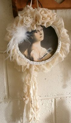 Shabby chic decor hoop