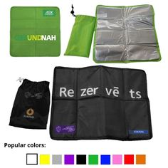 Outdoor Seat Mat with Padded Foam Cushion Pouch Included