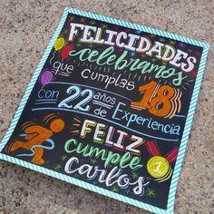 Dad Birthday, My Boo, Diy Cards, Ideas Para, Chalkboard Quotes, Birthdays, Kitty, Tumblr, Lettering
