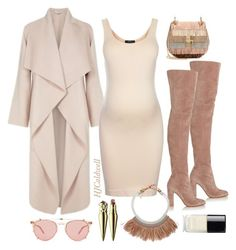 """""""Mommy Atti-nude"""" by hjcaldwell on Polyvore featuring Topshop, Gianvito Rossi, Fiona Paxton, Chloé, Garrett Leight, Christian Louboutin, Chanel and maternity"""