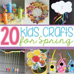 20 Kids Crafts for Spring at artsyfartsymama.com #spring #kidscrafts #homeschool