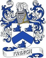 French Family Coat of Arms  French Family Crest - American   VIEW OUR AMERICAN COAT OF ARMS / AMERICAN FAMILY CREST PRODUCTS
