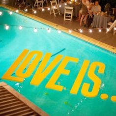 This is what happens when two graphic designers tie the knot in Palm Springs. Awesomeness.