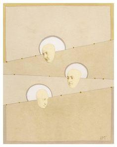 "Saatchi Art Artist Athena Petra Tasiopoulos; Collage, ""Trinity"" #art"