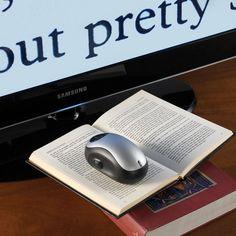 """Este """"mouse"""" escanea y amplifica el tamaño del texto."""