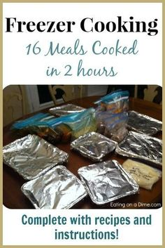 My Freezer Cooking Session meals done! -Recipes & Instructions included My Freezer Cooking Session meals done in just 2 hours! - Eating on a Dime Plan Ahead Meals, Freezable Meals, Make Ahead Freezer Meals, Crock Pot Freezer, Freezer Recipes, Crockpot Meals, Freezer Dinner, Dump Recipes, Dump Dinners