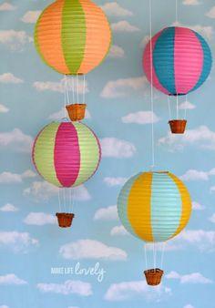 Paper Lantern DIY Hot Air Balloons Tutorial Air Balloon, Hot Air