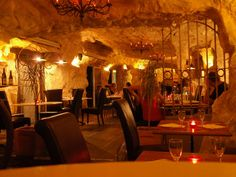 Please enjoy this week-in-the-life of Dina and Ryan from Vagabond Quest, as they travel by car through France. Cafe Interiors, Restaurant Interiors, Pub Design, Restaurant Lounge, Basement Ideas, Small Towns, Cave, Menu, France
