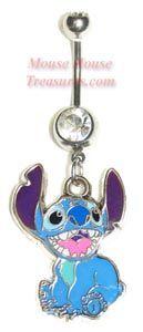 Disney Lilo & Stitch Belly Rings So freakin cute!